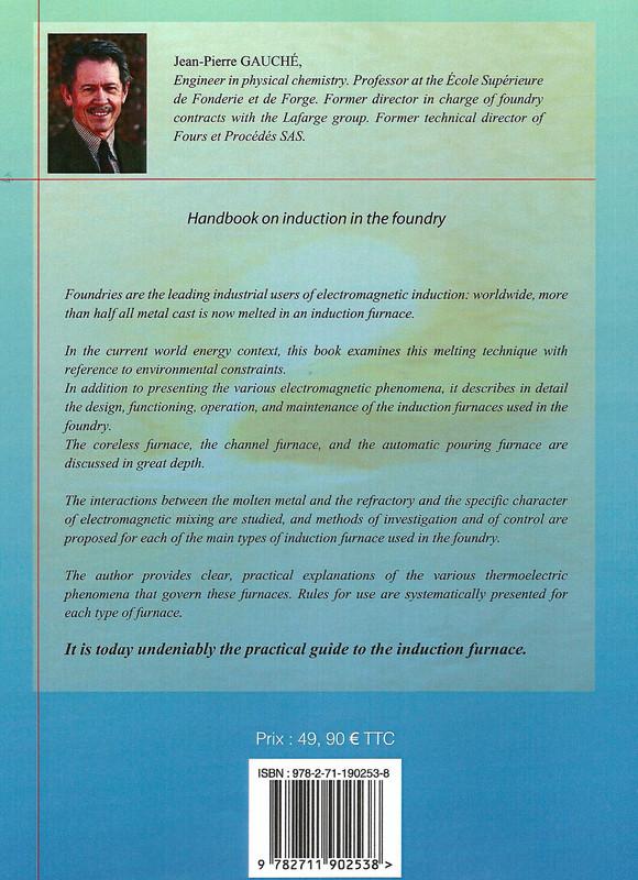 """Verso du livre sur """"Pratique de l'induction en fonderie"""""""